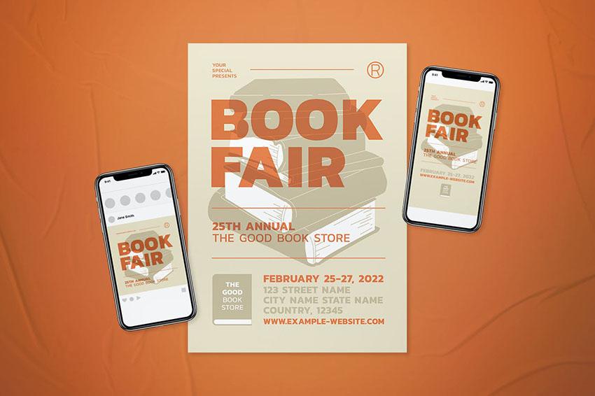 Book Fair Event Flyer Template Set