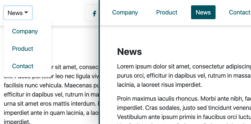 Bootstrap dropdown to pills or tabs