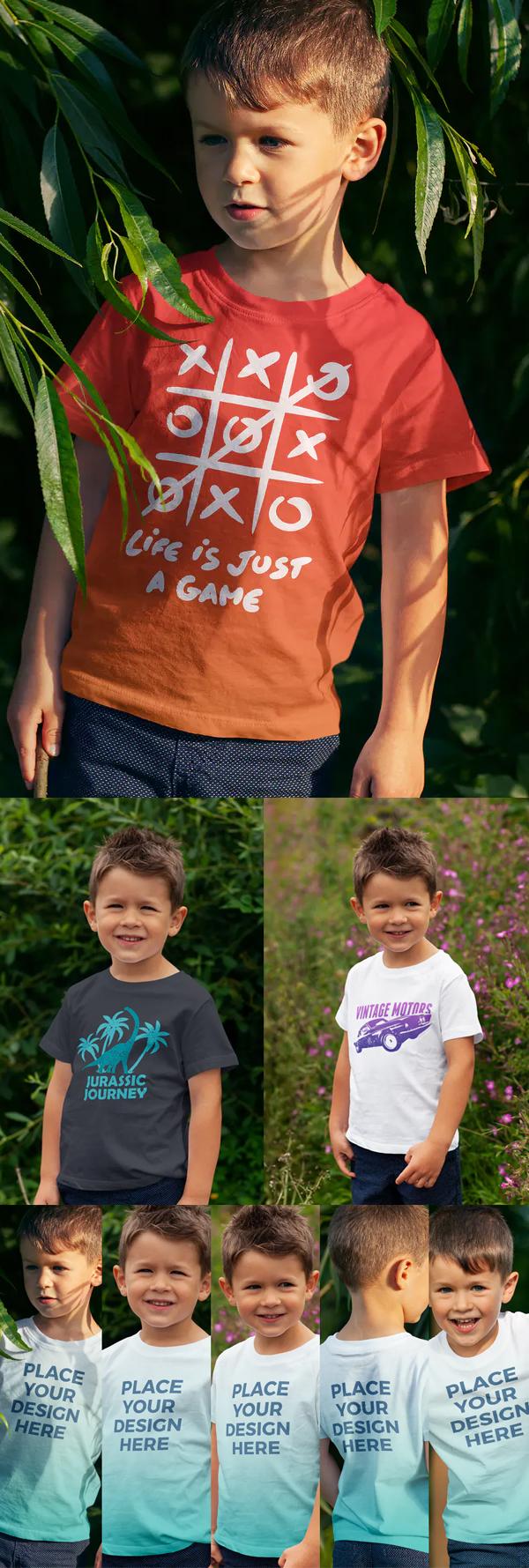 Boys / Kids T-shirt Mockup