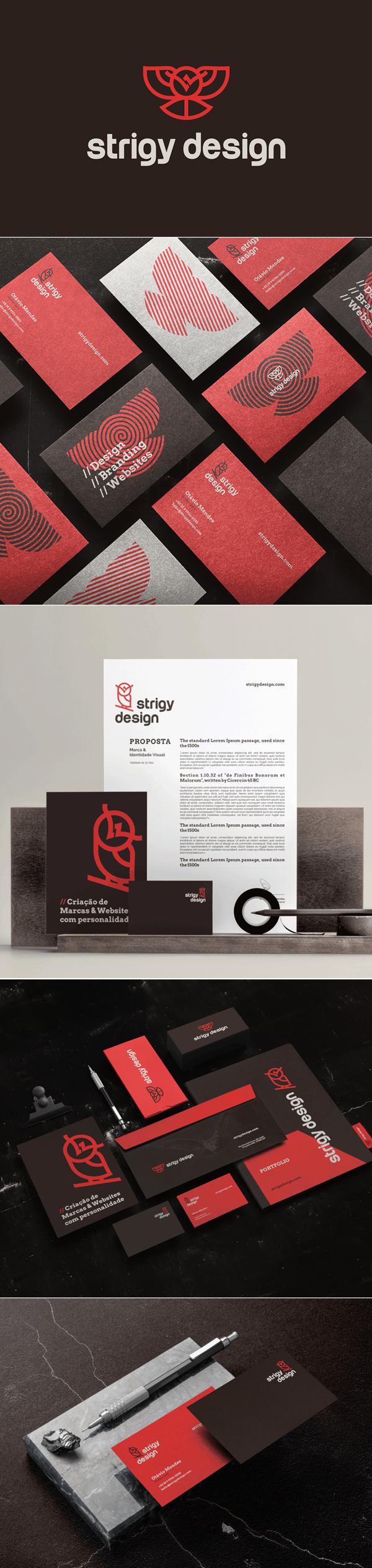 Business Card - Strigy Design Branding Identity by Strigy Design