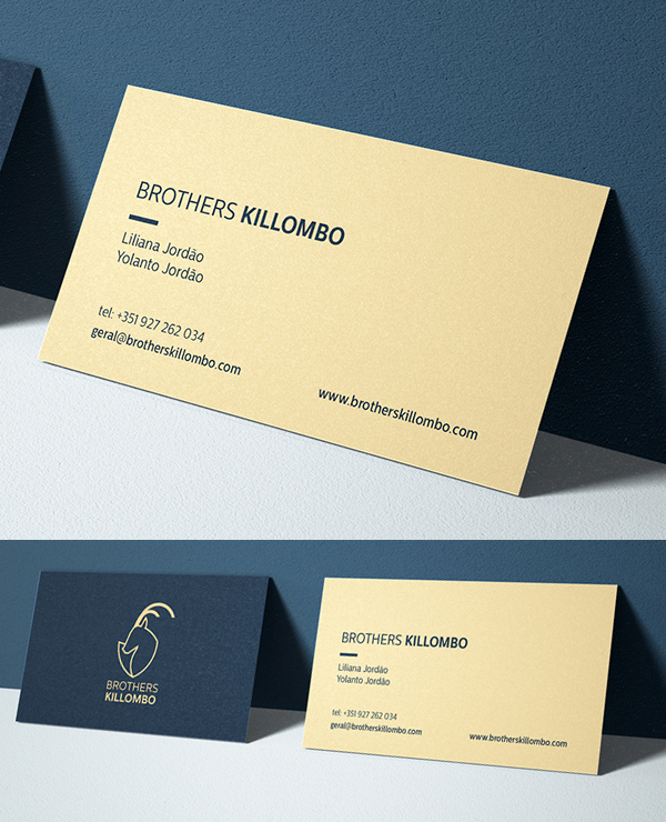 Business Card - Brothers Killombo Branding By Duarte Pereira