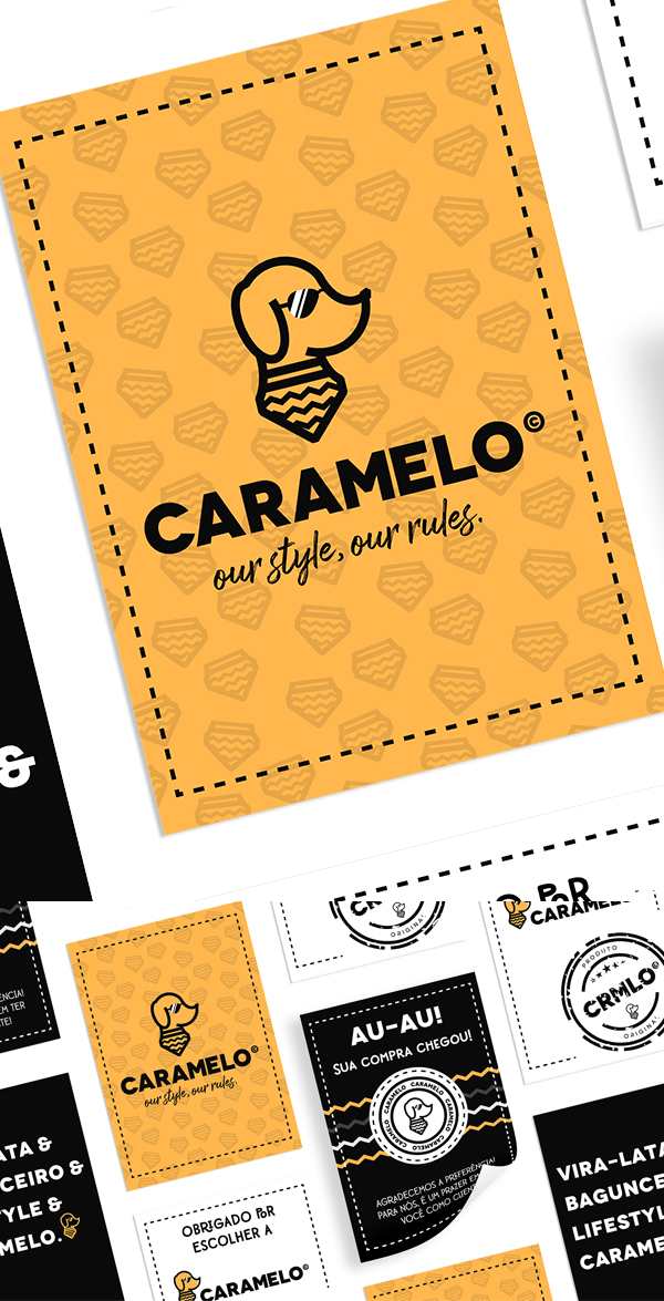 Business Card - Caramelo - Visual Identity by Mari