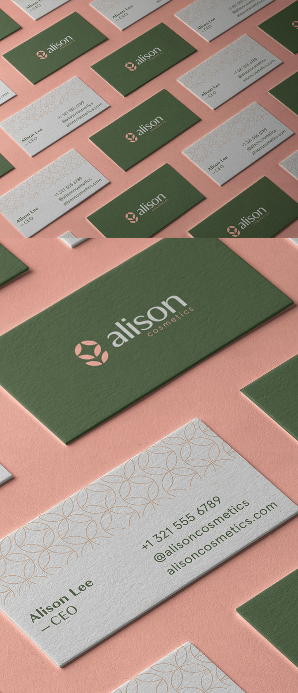 Business Card - Alison Cosmetics Branding Identity by Joao Matheus de Barros