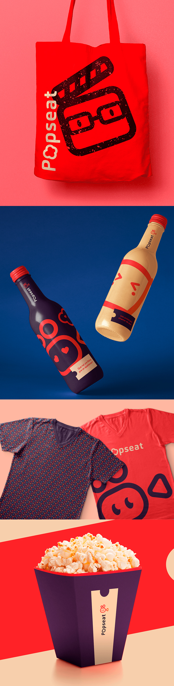 Stationery - Popseat Brand Visual Identity by Renata Caraih