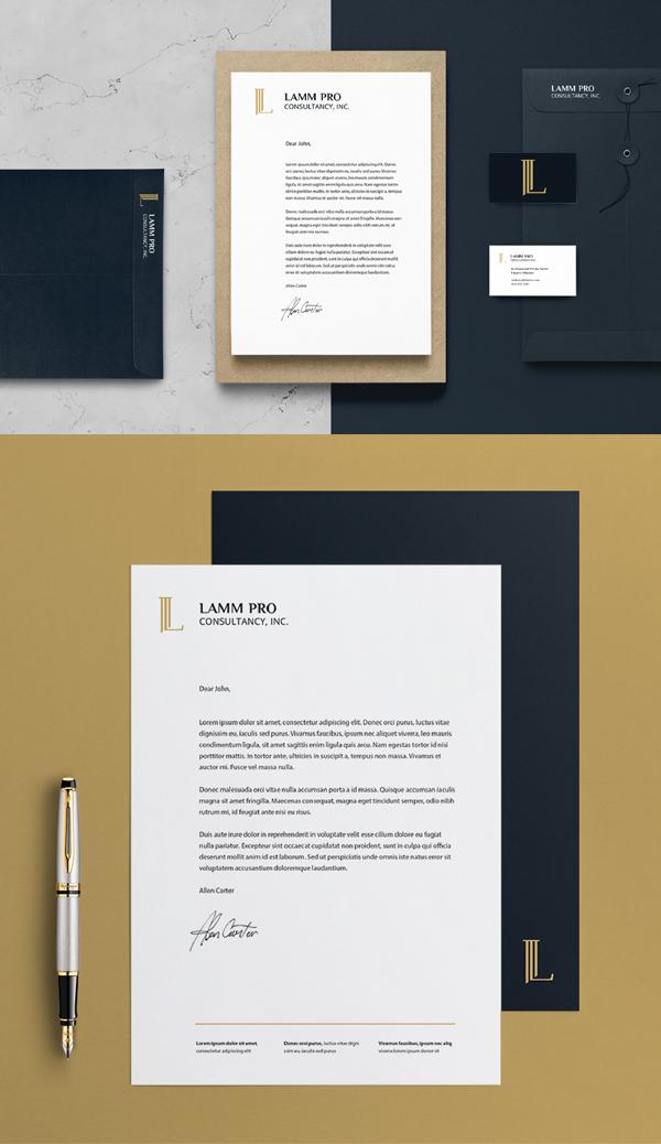 Stationery - Lamm Pro Consultancy Branding Identity by Ana Somek