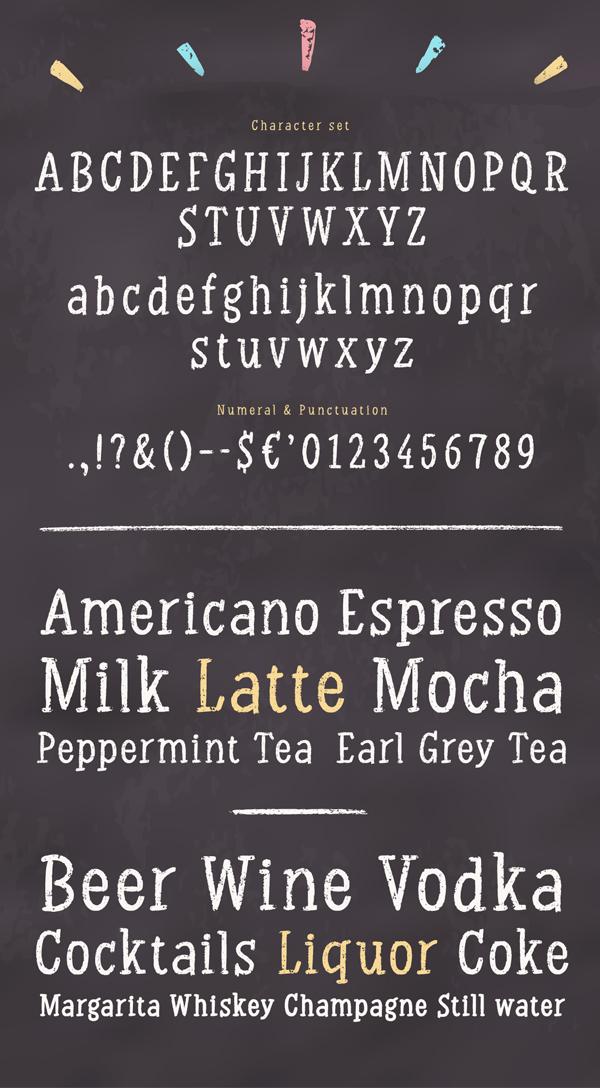 Chalk Serif Font Letters