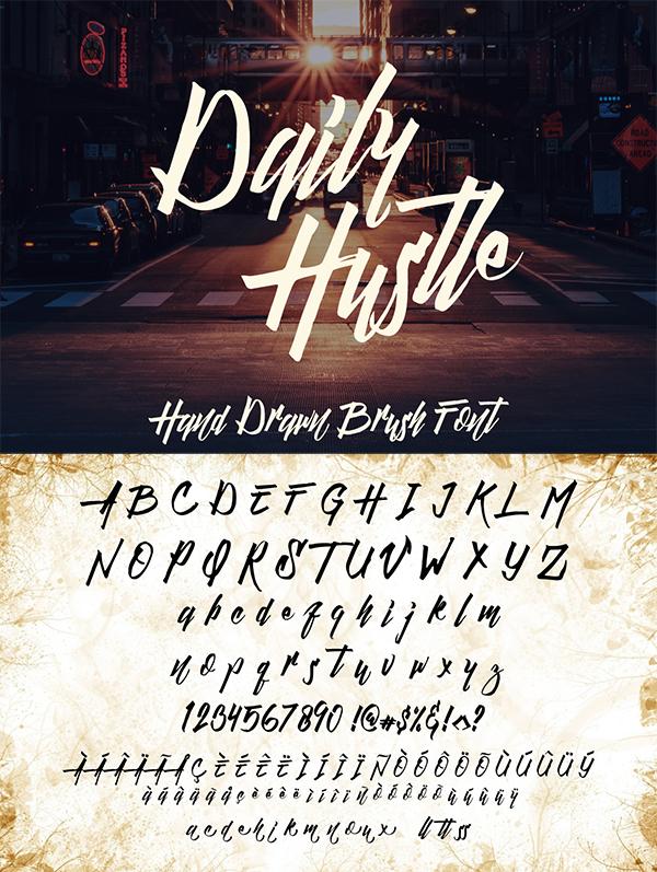 Daily Hustle - Brush Script Font