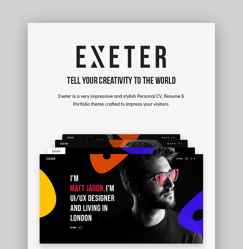 Exeter Inspiration WordPress Theme