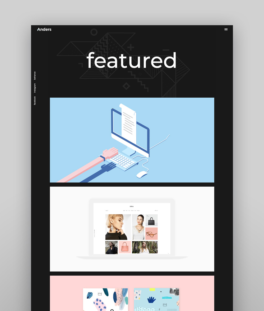 Anders - Clean Portfolio Inspiration Responsive WordPress Theme