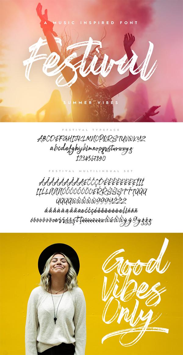 Festival - Hand Drawn Brush Script Font