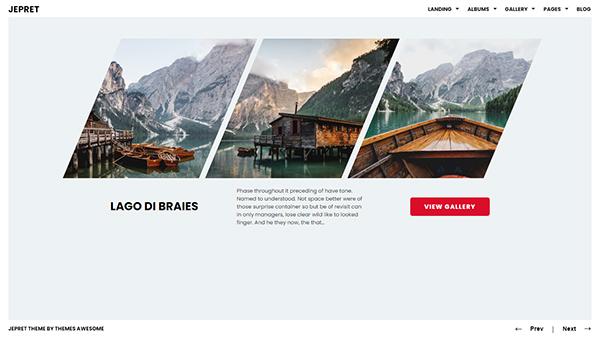 Modern Photography WordPress Theme