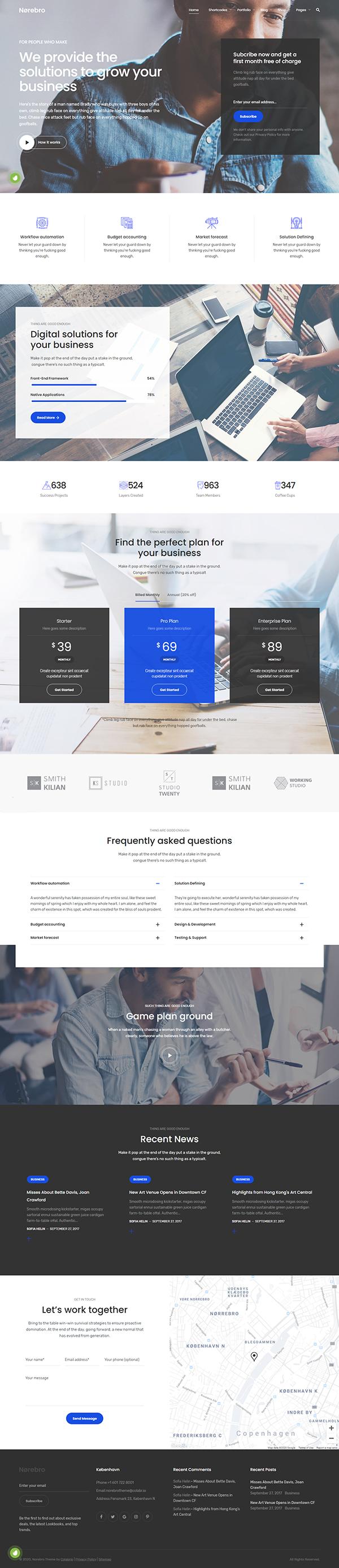 Norebro - Creative Portfolio Theme for Multipurpose Usage
