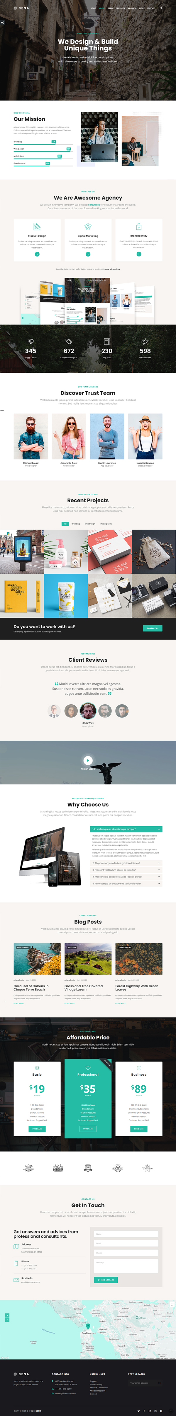 Sena - Creative MultiPurpose WordPress Theme
