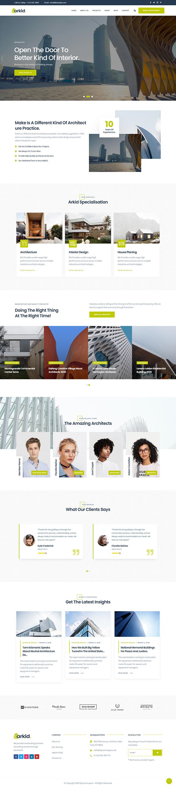 Arkid - Architecture and Interior Design WordPress Theme