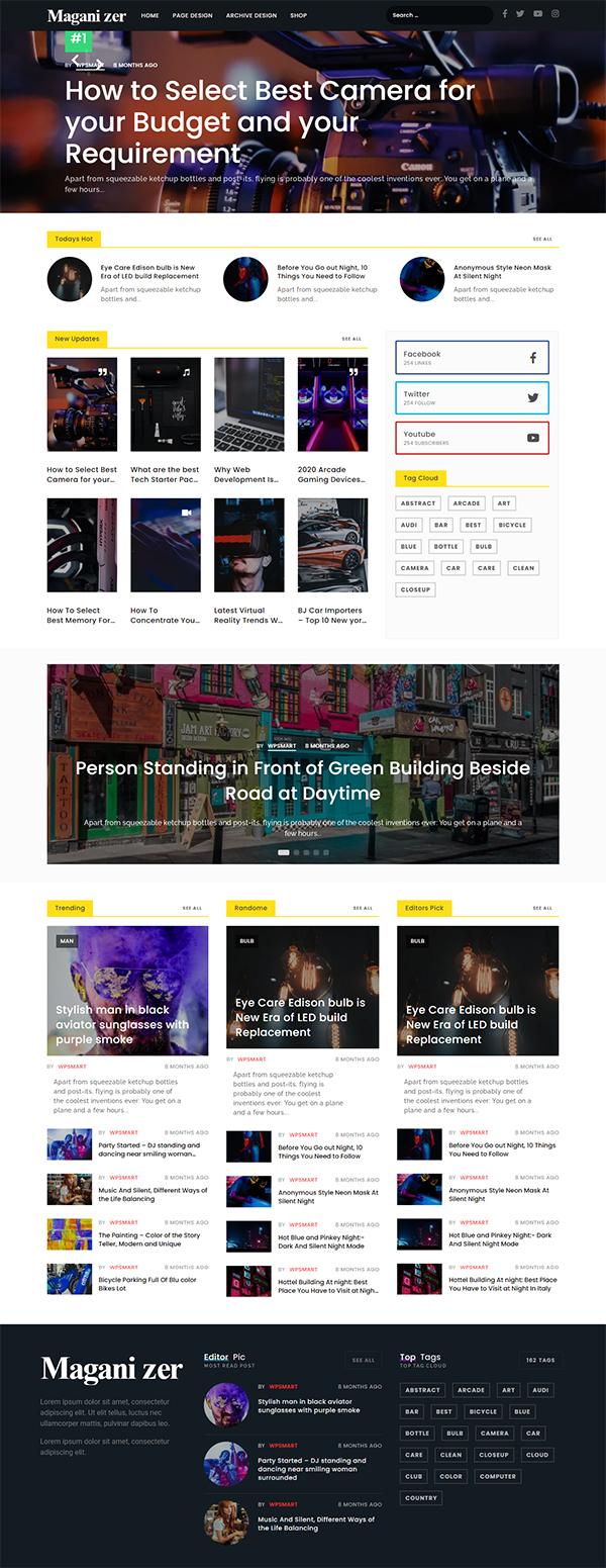 Maganizer - Modern Magazine WordPress Theme