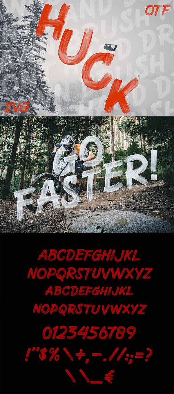 Huck - Handcrafted SVG Brush Font