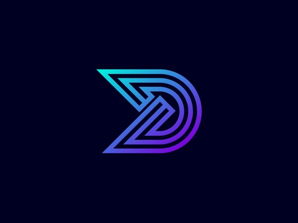 Minimal D Letter Logo Design by Freelancer Iqbal