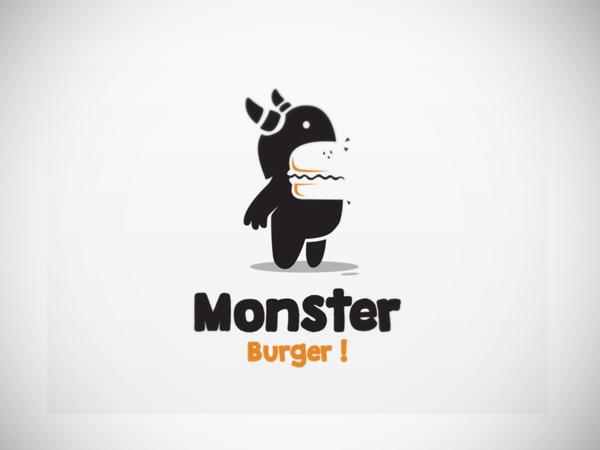 Monster burger Logo design by Garasigrafis