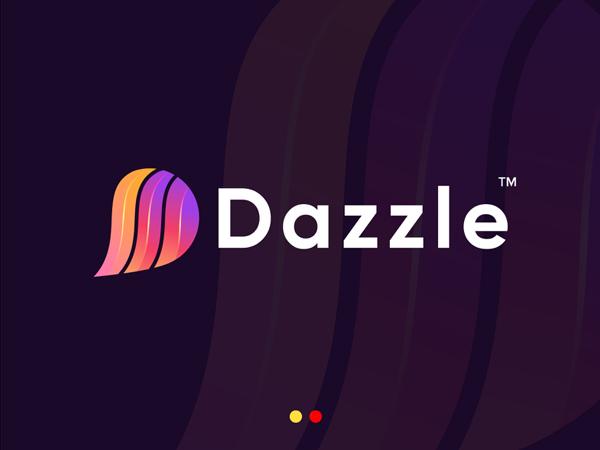 Modern D Letter logo Dazzle by GFXhouse