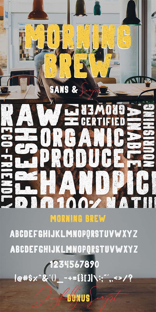 Morning Brew - Hand Painted Font
