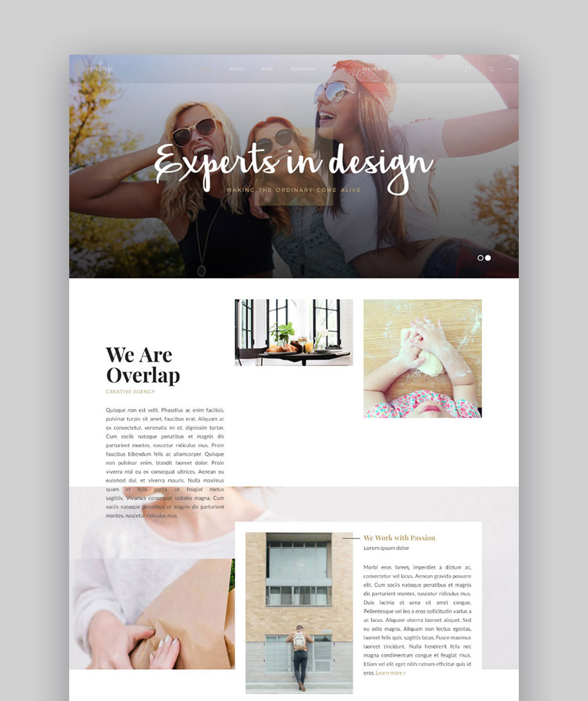 Overlap Clean WordPress Theme for Minimal and Modern Web Design