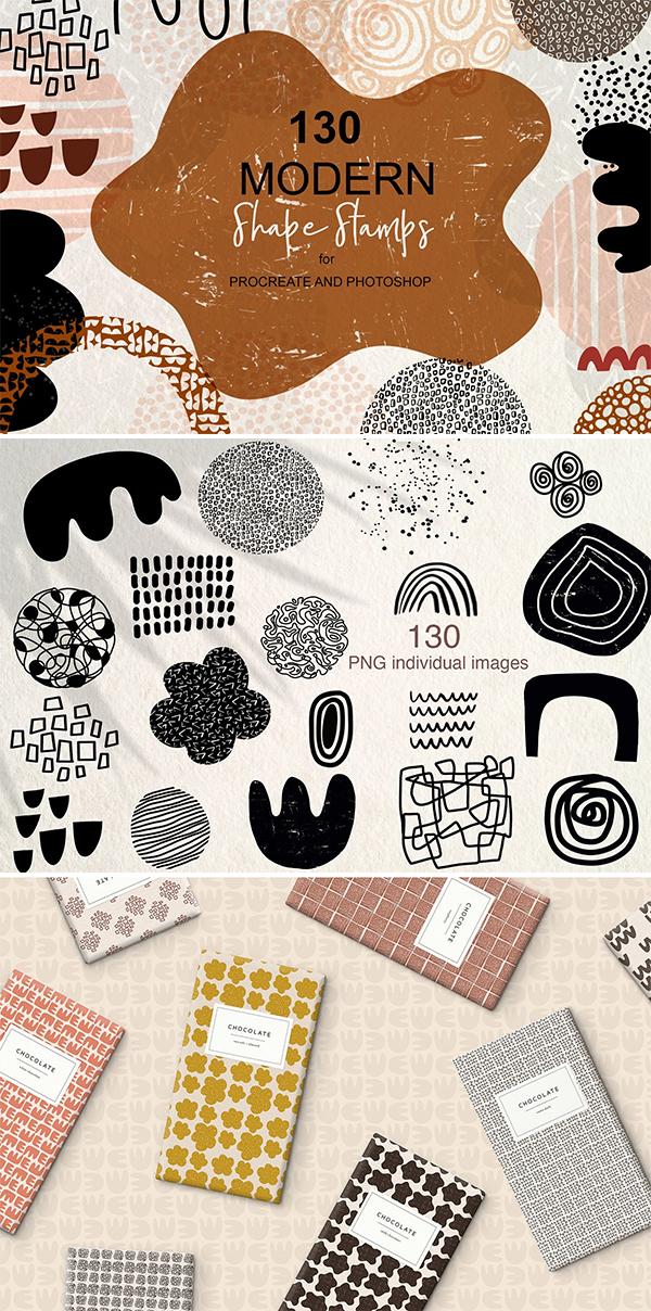 Modern Shape Stamps