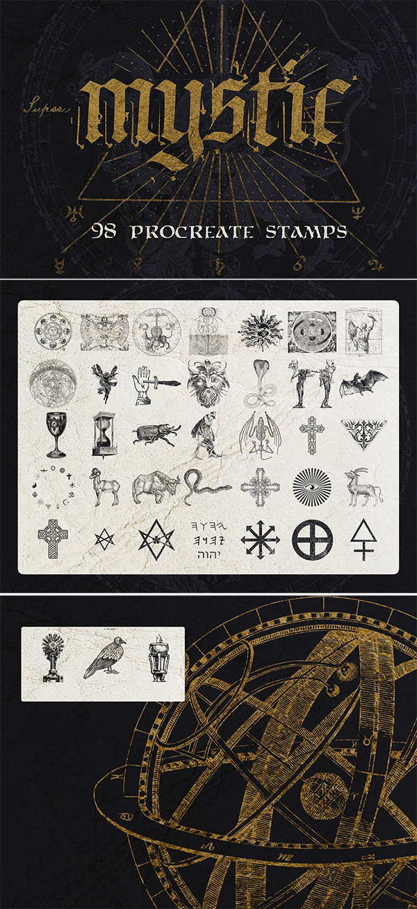 98 Procreate Mystic / Ocult Stamps