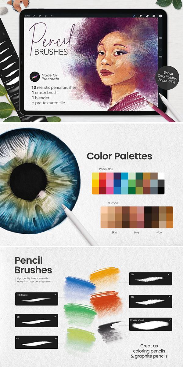 Ultimate Pencil Brushes Procreate