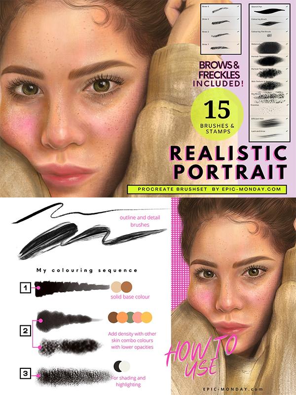 Procreate Realistic Portrait Brushes