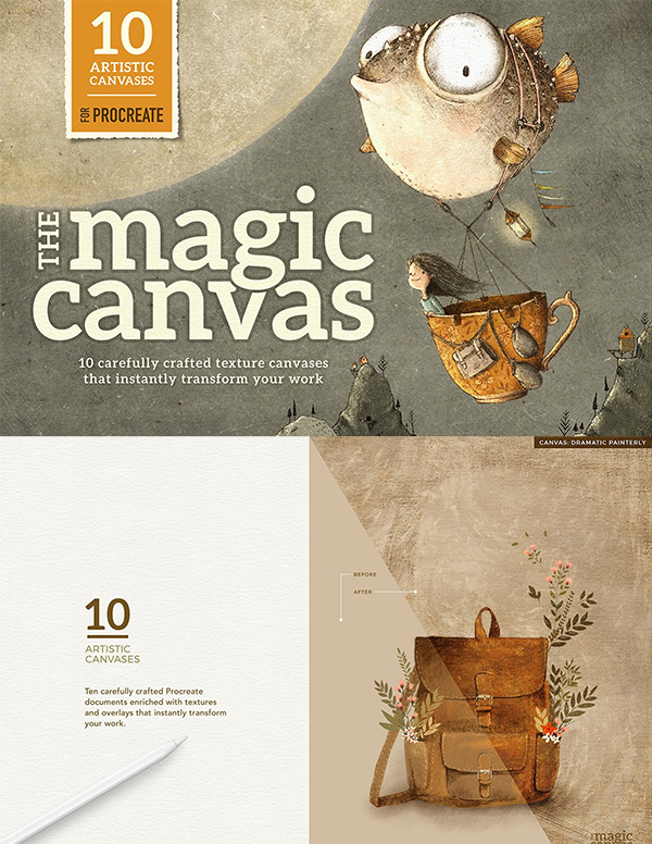 Magic Canvas Procreate Textures
