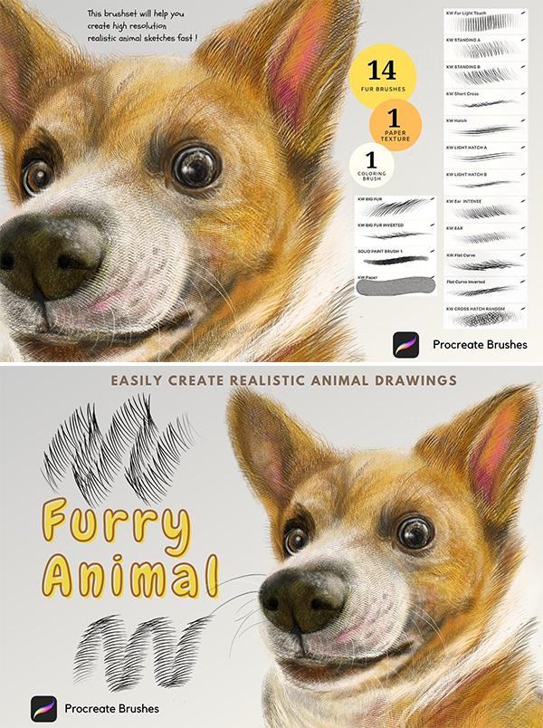 Procreate Furry Animal Brushes