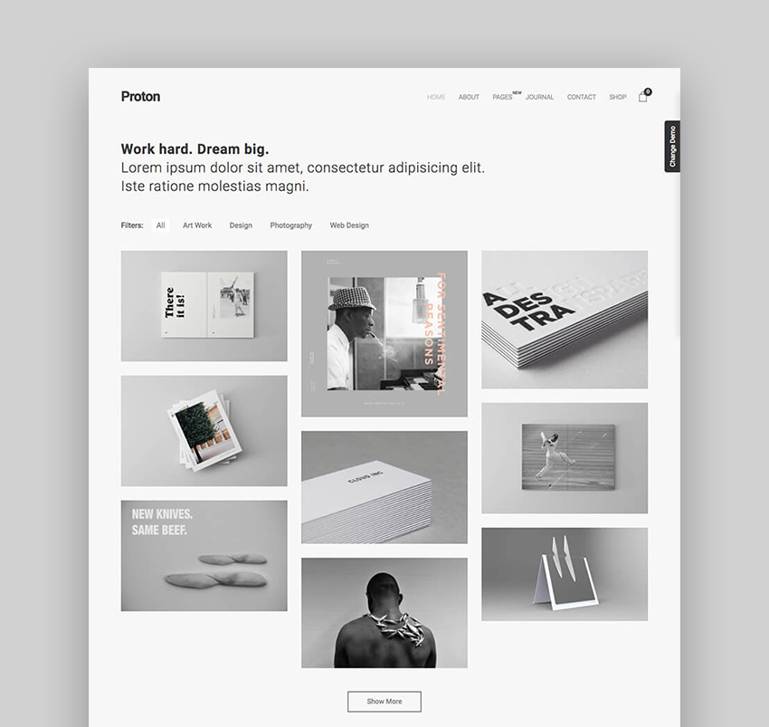 Proton Minimal WordPress Theme With Simple Clean Web Page Design