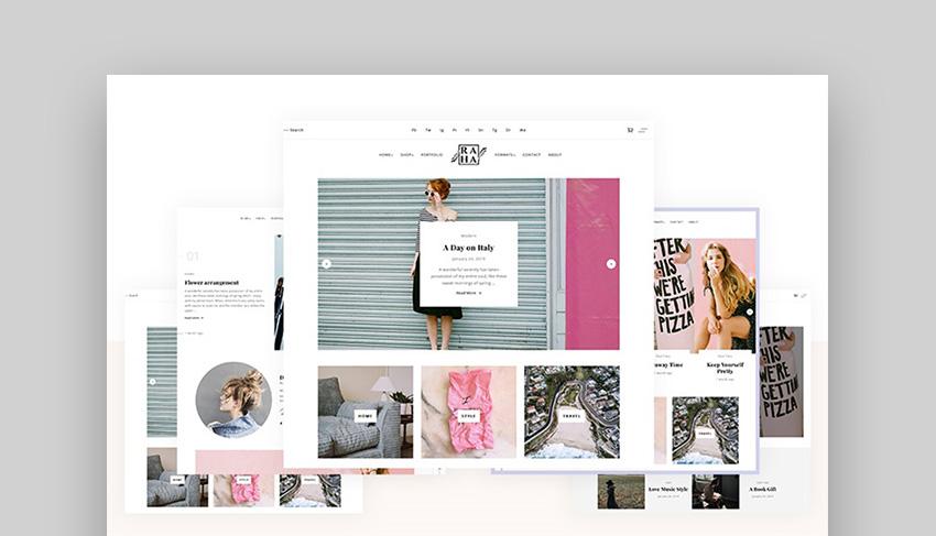 Raha Clean And Modern WordPress Theme