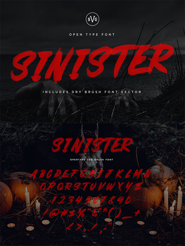 Sinister - SVG Font