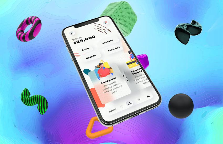 Loans Finance Mobile Neumorphism Soft Ui