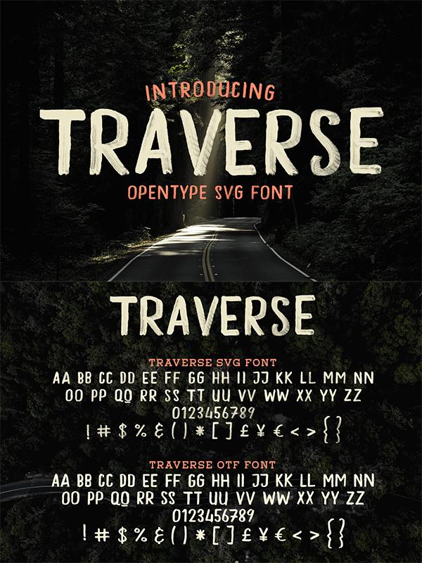 Traverse - Hand Drawn Font