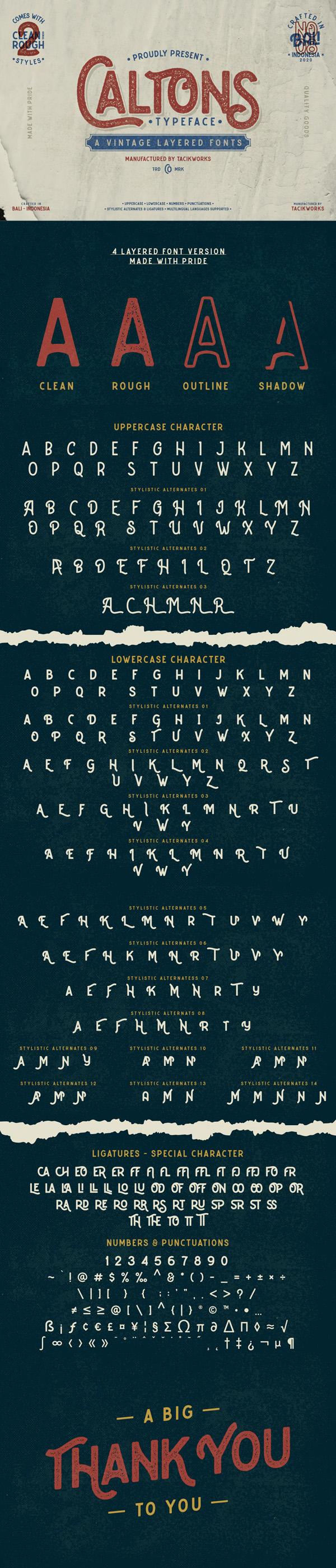 Caltons Typeface