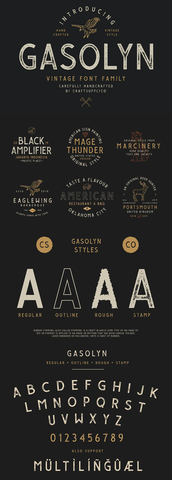 Gasolyn - Vintage Font Family