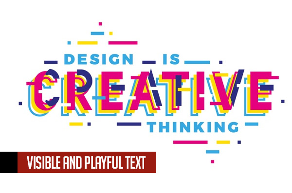 Visible and Playful Text