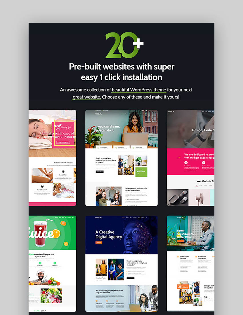 WebGatha Inspiration Responsive WordPress Theme