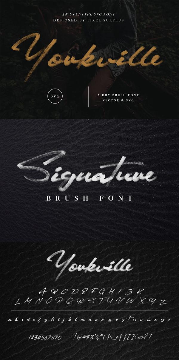 Yorkville SVG - Signature Brush Font