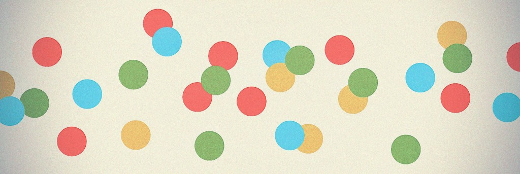 Dot stickers as a pointer are the analog of a cursor