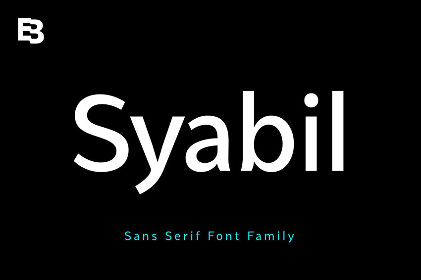 Syabil, fonts like arial