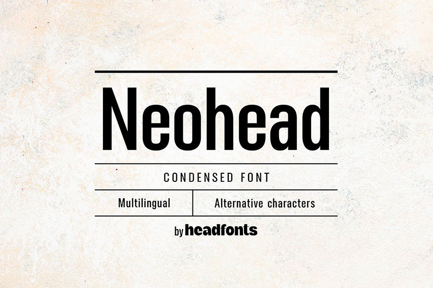 Neohead, fonts like Arial