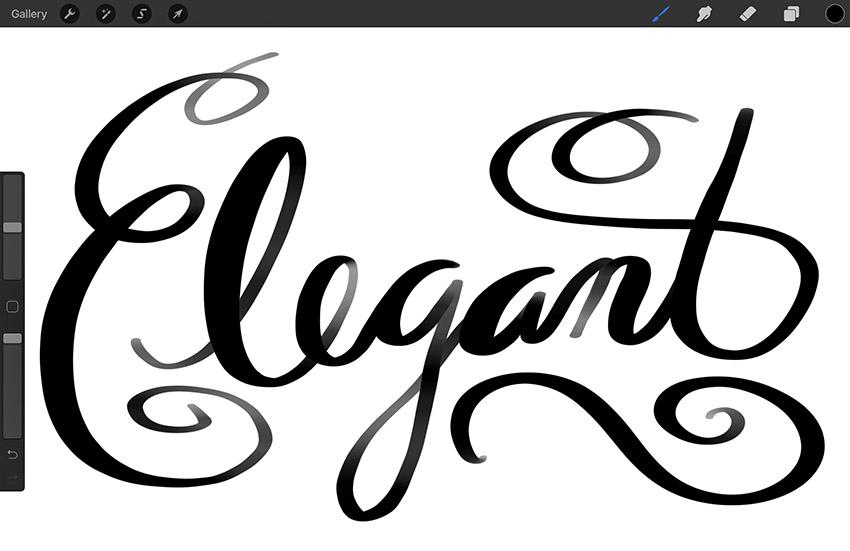 procreate calligraphy