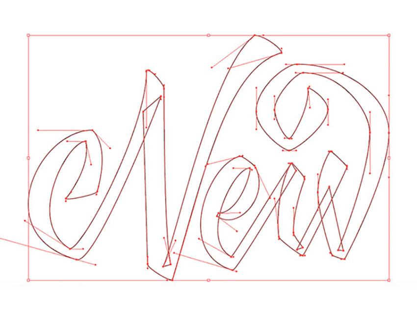 Hand Drawn Lettering Illustrator Tutorial Handling Bezier NEW Vector
