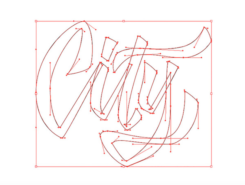 Hand Drawn Lettering Illustrator Tutorial Handling Bezier City Vector