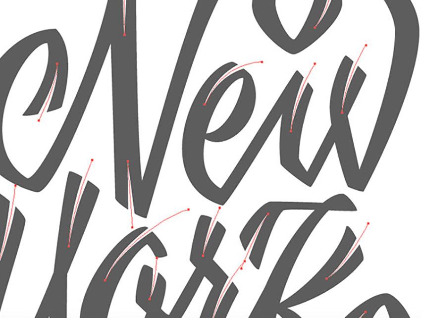 Hand Drawn Lettering Illustrator Tutorial Handling Bezier Angular Variable Width Tool