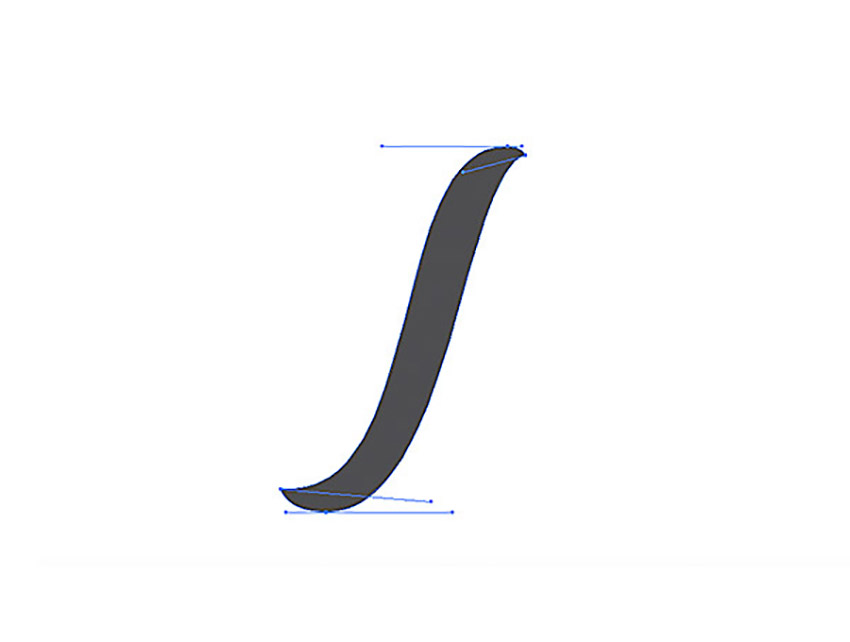 How to Hand Letter In Illustrator Tutorial Handling Bezier The Stem Vector