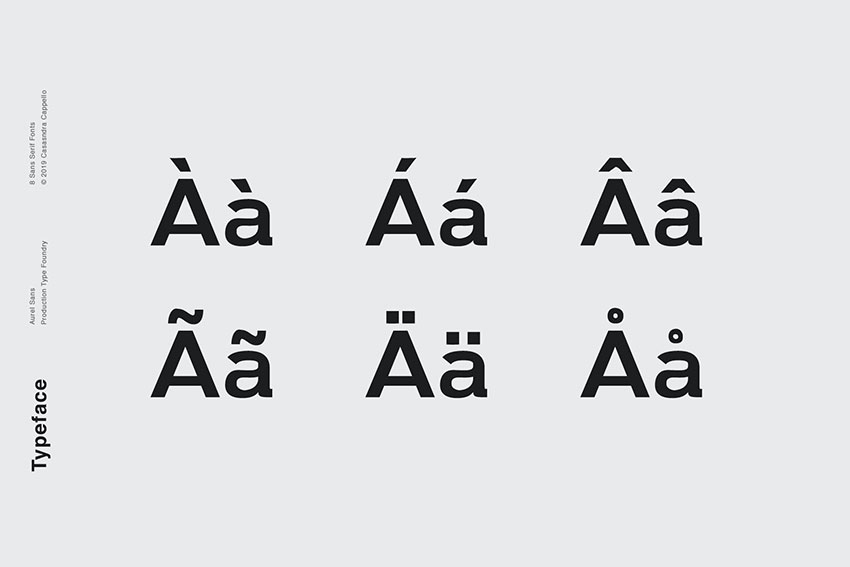 Aurel, fonts like Arial